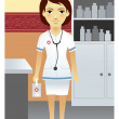 Nurse, Hospital - Stock Vector