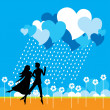 Loving Couple — Stock Vector