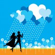 Loving Couple — Vector de stock