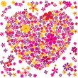 Flower Heart - Stock Vector