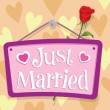 Just Married Sign — Vector de stock
