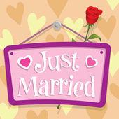 刚刚结婚的标志 — 图库矢量图片