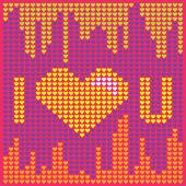 Pixel Love — Stock Vector
