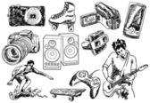 Design Doodles — Stock Vector