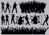 Music silhouettes — Stock Vector