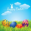 Easter Greeting Card - Image vectorielle