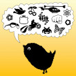Royalty-Free Stock Imagen vectorial: Twitter Bird
