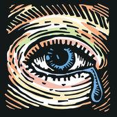 Crying Eye — Stock Vector