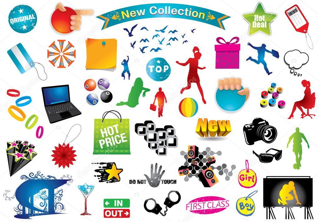 clip art collection stock vector  u00a9 ultraviolet 5139777 clipart collection stick man suit clip art collections for sale