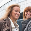 Two attractive young business ladies — Stock Photo