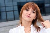 Mujer de negocios joven sensual — Foto de Stock