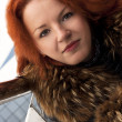Lovely young lady with red hair — Stock fotografie