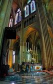 Reims Cathedral interior — Stock Photo