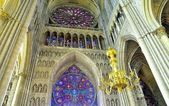 Interior of a cathedral in Reims. — Stock Photo