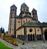Westwork of Romanesque Abbey Maria Laach — Stockfoto