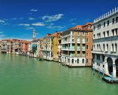 Widok z mostu ponte di rialto w Wenecji — Zdjęcie stockowe