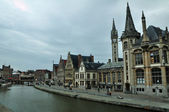 Historic houses in Ghent — Stock Photo
