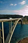 Bridge on island Krk in Croatia — Stock Photo