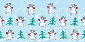 Snowmans — Stock Vector