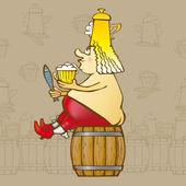 King Beer — Stock Vector