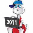 Stock Vector: Programmer Rabbit 2011