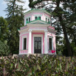 Pink pavilion on Island of Love, Sofiyivsky Park, Uman, Ukraine — Stock Photo