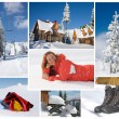 Winter collage — Foto Stock