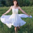 Stock Photo: Girl in white dress