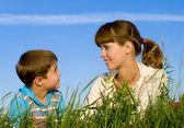 Madre con un figlio — Foto Stock