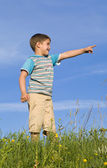 A boy showing aside — Stock Photo