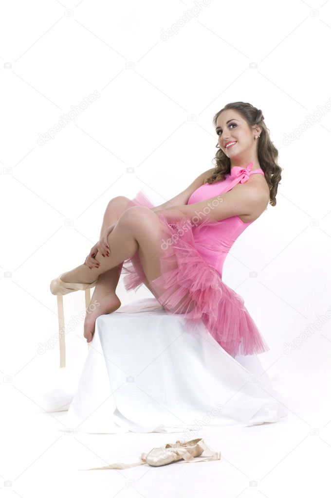 Dance beautiful ballerina  — Stock Photo #4076945