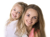 Girl with a mother — Stock Photo