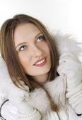 Closeup portrait of beautiful young girl — Stock Photo