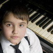 Royalty-Free Stock Photo: Little boy and piano.