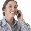 Business woman talking on the phone — Stock Photo #5047607