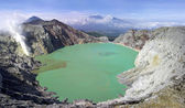 Sulphatic lake in a crater of volcano Ijen. Indonesia — Stock Photo