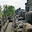Stoned image of Buddhin Borobudur — Stock Photo #5105732