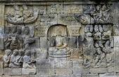 Yogyakarta borobudur tapınağı java oyma taş — Stok fotoğraf