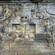 Detail of carved relief at Borobudur on Java — Stock Photo
