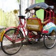 Stock Photo: Tricycle rickshaws on streets of Yogyakarta