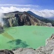 Sulphatic lake in a crater of volcano Ijen. Indonesia — Stock Photo #5211086