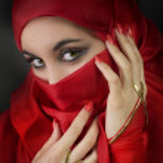 Portrait of a young arabian beauty — Stock Photo #5211341