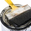 Royalty-Free Stock Photo: Brush and paint can
