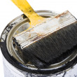 Brush and paint can — Stock Photo