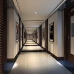 Rendering modern corridor — Stock Photo