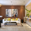 Rendering Interior living-room — Stock Photo