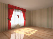 Rendering modern empty room interior — Stock Photo