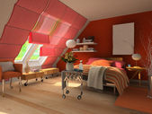 3d rendering bedroom — Stock Photo
