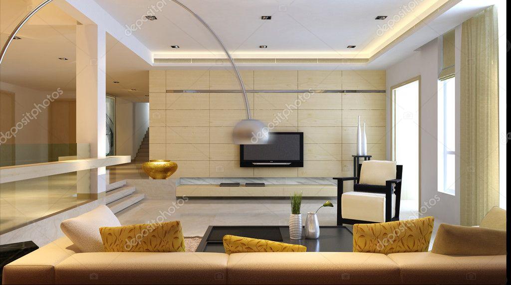 Rendering di interni soggiorno — Foto Stock © baojia1998 #4084253