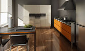 The modern kitchen interior design — Foto Stock